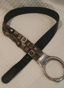Chico's Leather And Metal Belt